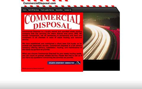 Screenshot of Home Page commercialdisposal.com - Commercial Disposal Home - captured Sept. 30, 2014