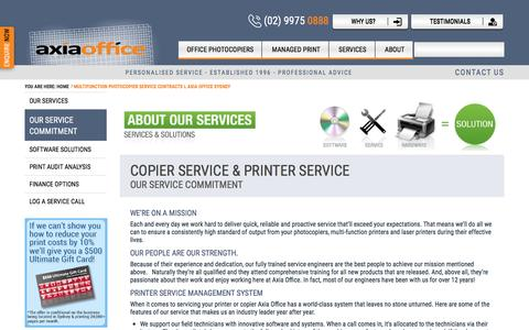 Screenshot of Services Page axiaoffice.com.au - Multifunction Photocopier Service Contracts l Axia Office Sydney - captured May 31, 2017
