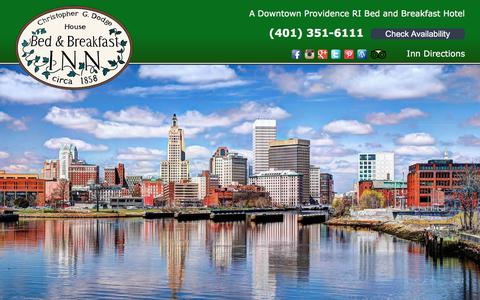 Screenshot of Home Page providence-hotel.com - Christopher Dodge House: Bed & Breakfast in Downtown Providence RI - captured July 2, 2018