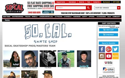 Screenshot of Team Page socalskateshop.com - Socalskateshopteam - captured Jan. 15, 2016