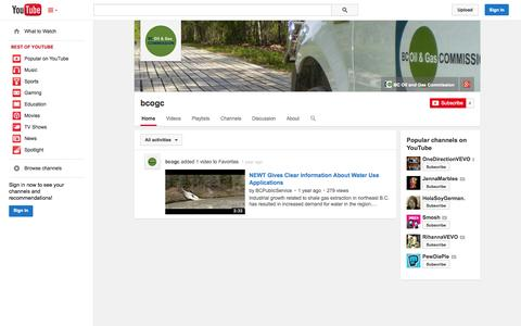Screenshot of YouTube Page youtube.com - bcogc  - YouTube - captured Oct. 25, 2014