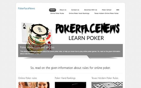 Screenshot of Home Page pokerfacenews.com - PokerFaceNews - Exclusive poker news from today's poker pros - captured May 18, 2017