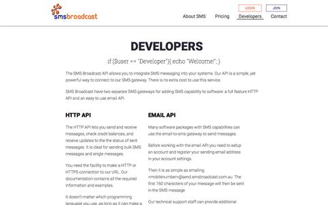 SMS Broadcast | 3.7 Cent SMS Messages | Developers | SMS API