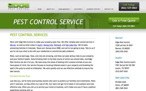 Pest Control Service  | Edge Pest Control