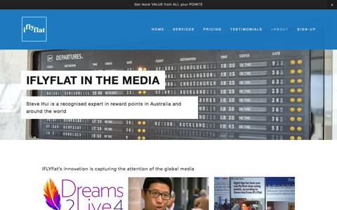 Screenshot of Press Page iflyflat.com.au - IFLYFLAT in the Media — IFLYFLAT - The Points Whisperer - captured Nov. 26, 2016