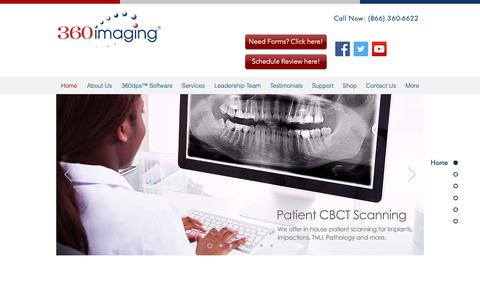 Screenshot of Home Page 360imaging.com - 360imaging® - Surgical Guides & Implant Planning Software - captured Nov. 3, 2018
