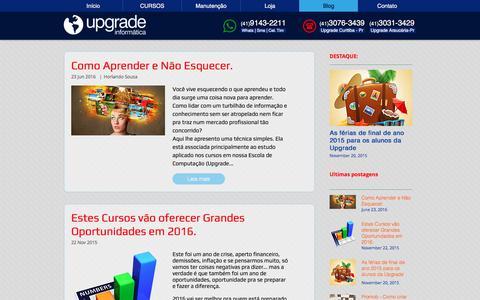 Screenshot of Blog cursosupgrade.com - Notícias, dicas e truques de Informática - captured Nov. 12, 2017