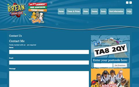 Screenshot of Contact Page breanthemepark.co.uk - Contact Us • Brean Theme Park - captured Oct. 26, 2018