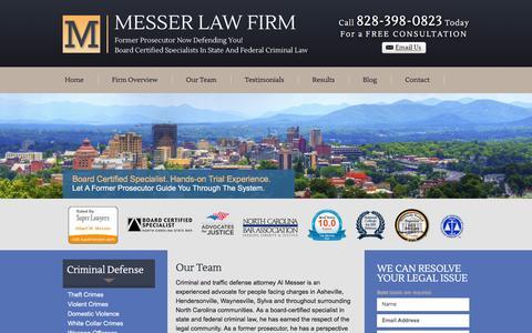 Screenshot of Team Page messerlaw.com - Attorney | Messer Law Firm | Asheville, North Carolina - captured June 20, 2016