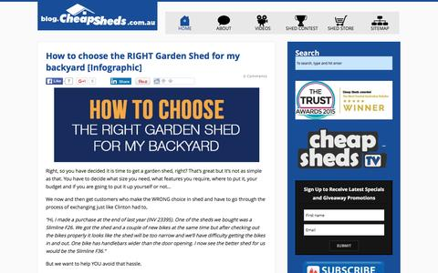 Screenshot of Blog cheapsheds.com.au - Cheap Sheds Blog - captured Jan. 27, 2016