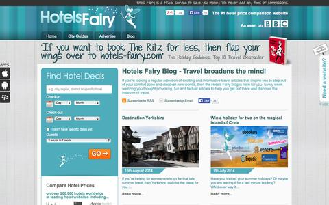 Screenshot of Blog hotels-fairy.com - Hotels Fairy Travel Blog Helps You Discover New Worlds - captured Sept. 30, 2014