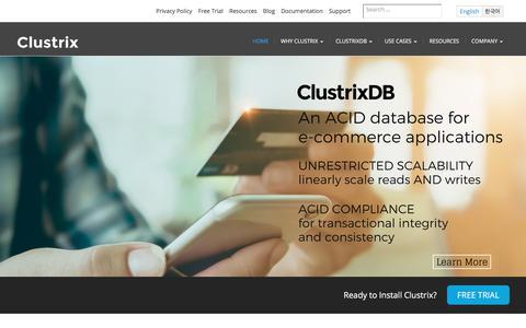 Clustrix - Scale-out RDBMS