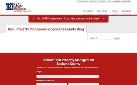 Screenshot of Blog rpmspokane.com - Spokane WA Property Management Blog   Real Property Management Spokane County - captured July 8, 2018