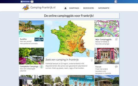 Screenshot of Home Page camping-frankrijk.nl - Campings in Frankrijk | Camping-Frankrijk.nl - kamperen - captured Jan. 14, 2016