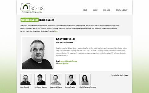 Screenshot of Team Page solusinc.org - People | Solus, Inc. - captured Oct. 7, 2014