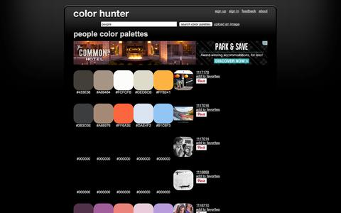 Screenshot of Team Page colorhunter.com - People Color Palettes - captured Oct. 31, 2014