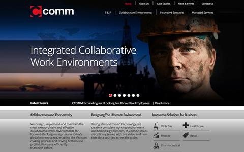 Screenshot of Home Page ccomm.co.uk - CCOMM | Collaborative Work Environments - captured Oct. 1, 2014
