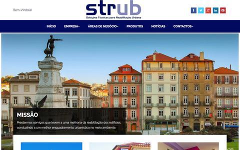 Screenshot of Home Page strub.pt - Início - STRUB - Soluções Técnicas para Reabilitação Urbana - captured Feb. 25, 2016