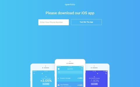 Screenshot of Login Page openfolio.com - Openfolio — Your Digital Financial Assistant - captured June 6, 2017