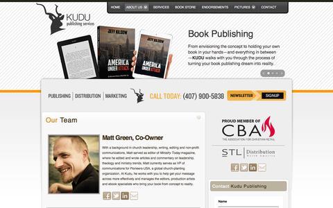 Screenshot of Team Page kudupub.com - Our Team - captured Oct. 8, 2014