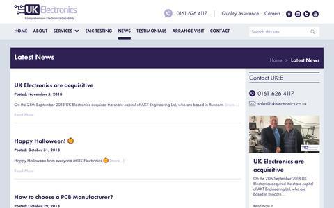 Screenshot of Press Page ukelectronics.co.uk - News - UK Electronics - captured Nov. 11, 2018
