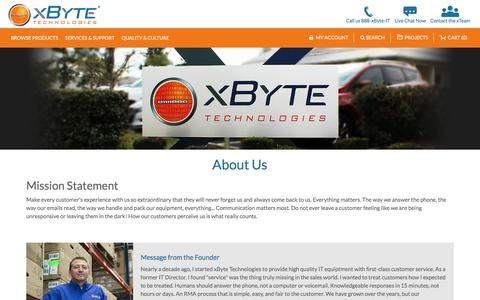 Screenshot of About Page xbyte.com - About Us - captured July 20, 2017