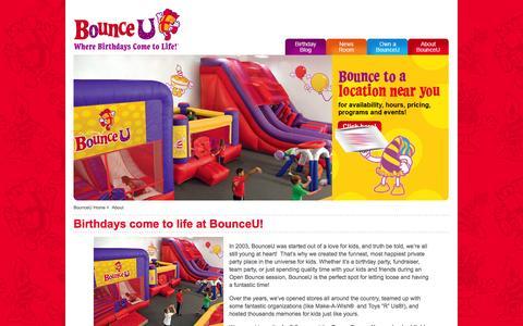 Screenshot of About Page bounceu.com - About BounceU - captured Oct. 29, 2014