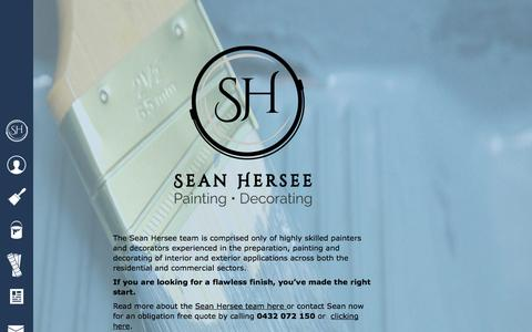 Screenshot of Home Page shpainting.com.au - Home - Sean Hersee Painting and Decorating - captured Oct. 4, 2014