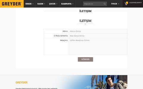 Screenshot of Contact Page greyder.com - İletişim Greyder.com - captured July 10, 2016
