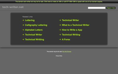 Screenshot of Home Page tech-writer.net - Tech-Writer.net - captured Oct. 10, 2015