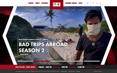 Screenshot of Home Page travelandescape.ca - Home | Travel and Escape - captured Sept. 24, 2014