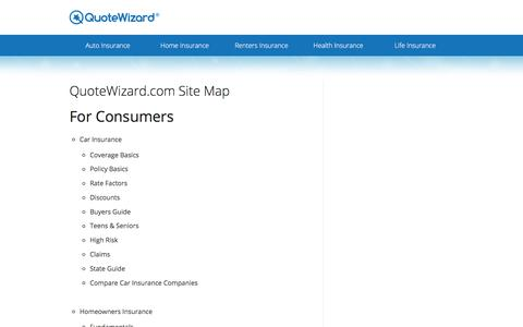 Site Map   QuoteWizard