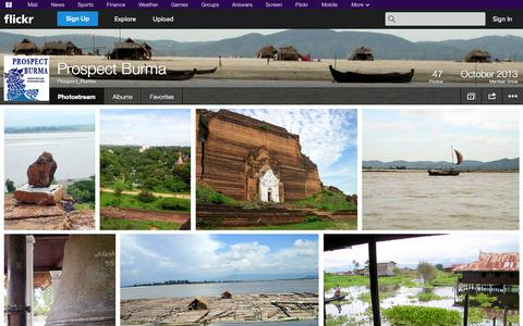Screenshot of Flickr Page flickr.com - Flickr: Prospect_Burma's Photostream - captured Oct. 23, 2014