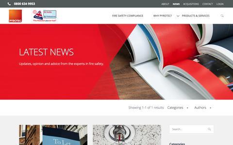 Screenshot of Press Page pyrotec.co.uk - News – Pyrotec - captured Sept. 30, 2018