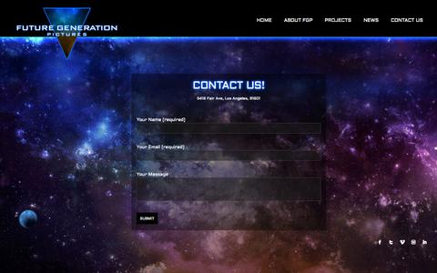 Screenshot of Contact Page futuregeneration.tv - Welcome to Future Generation Pictures | Contact Us! - captured Oct. 6, 2014