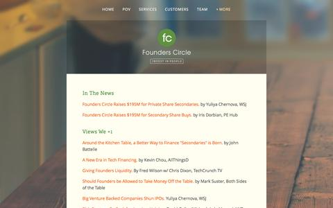 Screenshot of Press Page founderscircle.com - Worth Reading — Founders Circle - captured Oct. 29, 2014
