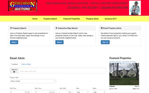 Screenshot of Signup Page carmanrealestate.com - GENE CARMAN REAL ESTATE & AUCTIONS - captured April 22, 2017