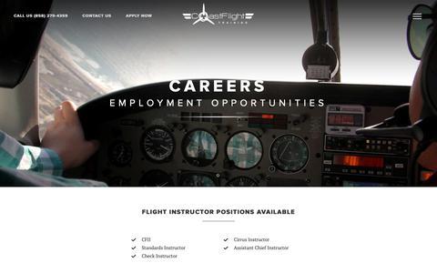 Screenshot of Jobs Page iflycoast.com - Careers - captured Nov. 10, 2018