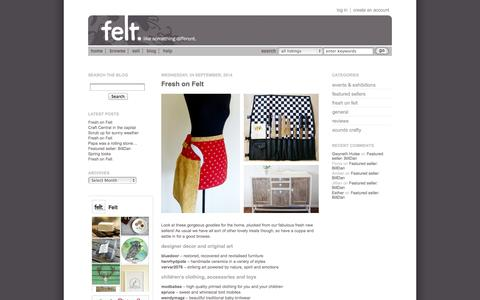 Screenshot of Blog felt.co.nz - Felt Blog - captured Sept. 25, 2014