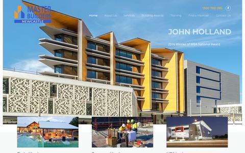 Screenshot of Home Page newcastle-mba.com.au - Home - MBA Newcastle - captured July 1, 2018