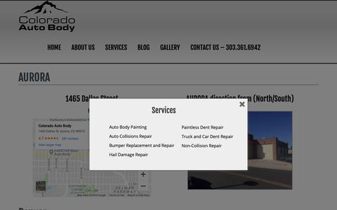 Screenshot of Locations Page coloradoautobody.com - Locations - Colorado Auto Body - captured Nov. 4, 2018