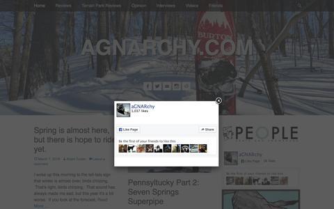 Screenshot of Home Page agnarchy.com - agnarchy.com | since 2009 - captured March 7, 2016