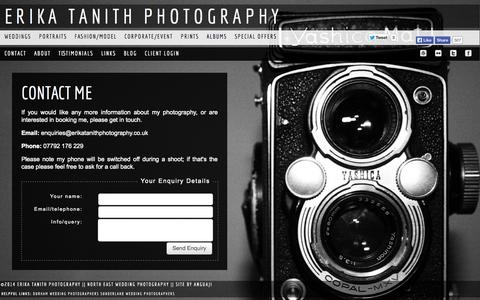 Screenshot of Contact Page erikatanithphotography.co.uk - Contact Me - Erika Tanith Photography - captured Sept. 30, 2014
