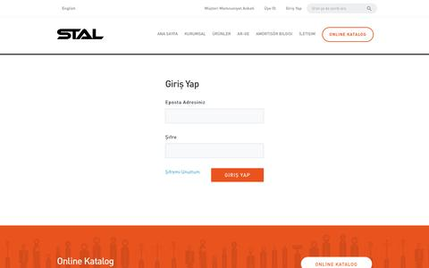 Screenshot of Login Page stal.com - STAL | Gürmak Amortisör Otomotiv - captured Nov. 18, 2016