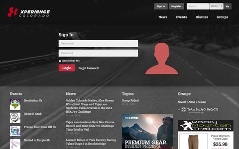 Screenshot of Login Page xpcolorado.com - Xperience Colorado   –  Sign In - captured Oct. 7, 2014