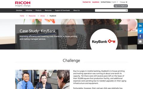 Screenshot of Case Studies Page ricoh-usa.com - Case Study: KeyBank - captured Jan. 3, 2019
