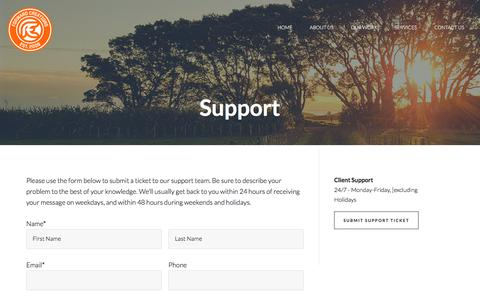 Screenshot of Support Page forward-creations.com - Support at Forward Creations | Web Design and Digital Marketing Bloomington IL - captured Aug. 20, 2018