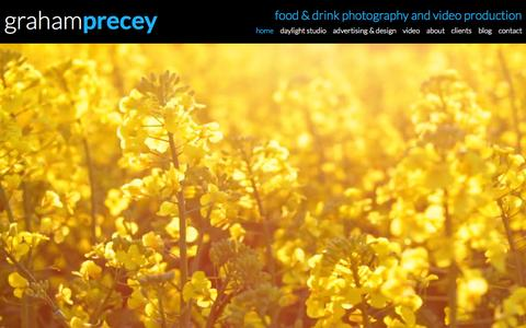 Screenshot of Home Page precey.com - Food Photography London, Creative Food Photographers in London - captured Sept. 18, 2015
