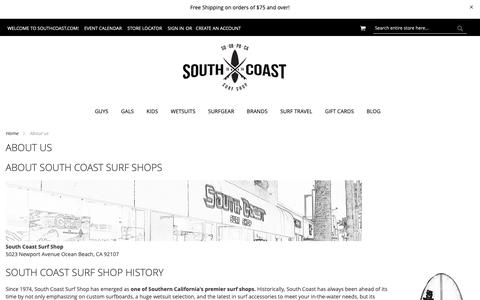 Screenshot of About Page southcoast.com - About us - captured Oct. 20, 2018