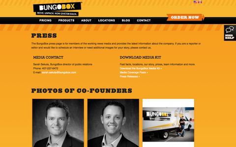 Screenshot of Press Page bungobox.com - Press   BungoBox - captured Sept. 30, 2014